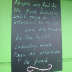 The sign outside Olivers Real Food